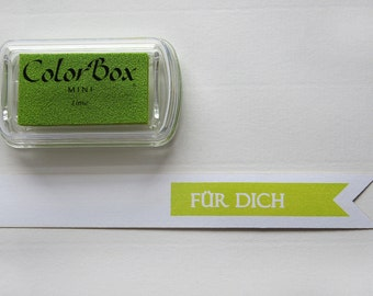 ♥ Green - lime pigment color stamp pads