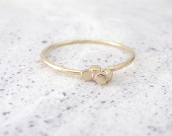 9ct Gold Ring - Skinny Ring - Ria Collection
