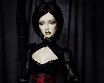 SALE! Red Kiss OOAK handmade dress set for bjd dollfie sd16 soom supergem clothing clothes fantasy rpg style