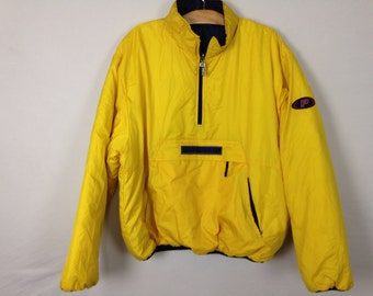90s reversible polo bubble pullover jacket size L