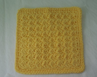 Handcrafted Cotton Washcloth in your choice of color, Soft Cotton Wash Cloths,