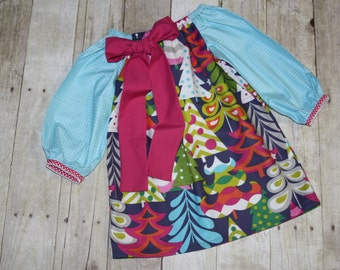 2t Ready to Ship Christmas Treelicious Dress in for Baby, toddler, and girls sz 2t