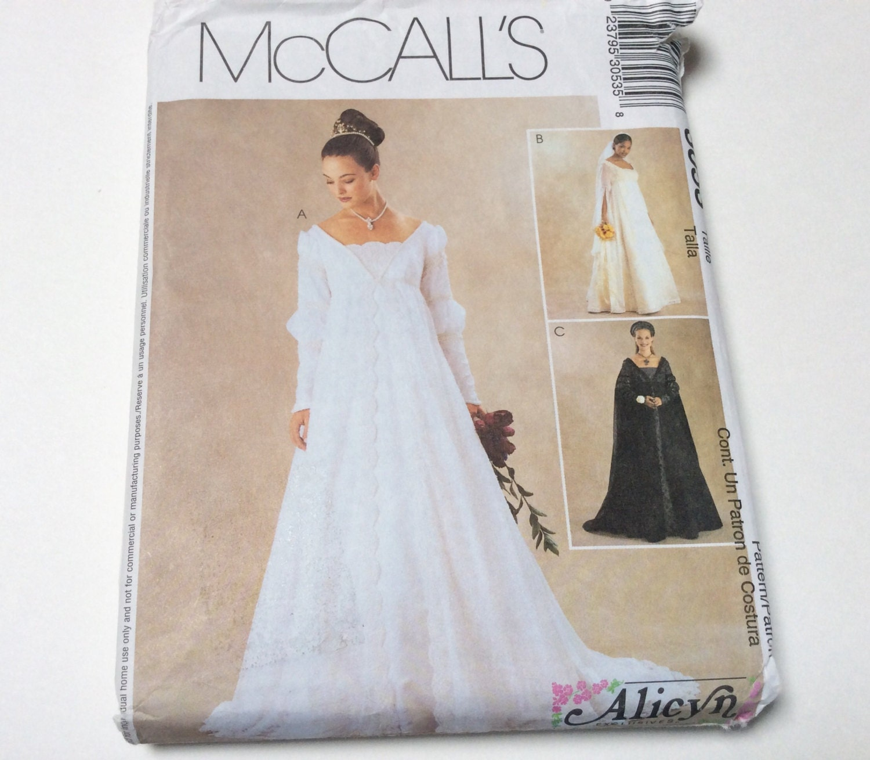 Renaissance wedding gown pattern mccalls 3053 alicyn for Wedding dress patterns mccalls