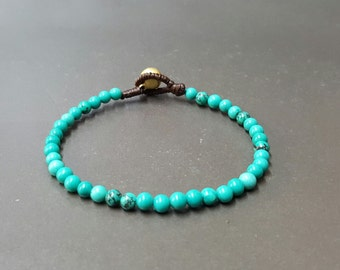 Single Chain  Natural Turquoise  Bracelet