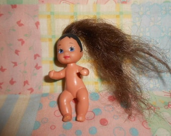 Mattel 1973 African American Baby Doll 2.5""