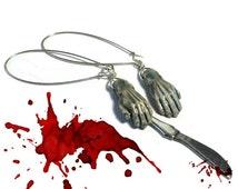 Zombie Hand Earrings, Zombie Earrings, Horror Jewelry, TWD Jewellery, Horror Fan Gift Idea, Alternative Jewellery, Zombies,