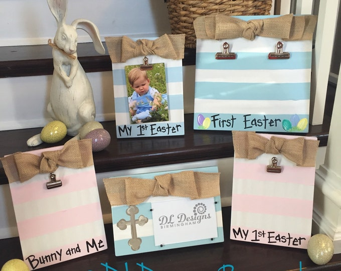First Easter picture frame and bunny and me picture frame cross picture frame