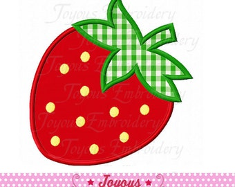 Instant Download Strawberry Applique Embroidery Machine Design NO:2027