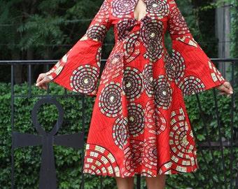 Mariposa Roja MIDI Dress - Ready to Ship - New!