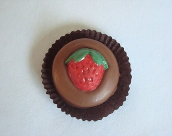 12 Chocolate Strawberry Oreo Cookie Favors Fruit Garden Party Strawberries