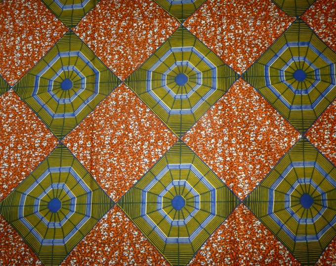 African Cotton Fabrics Mitex Holland Wax Print African Fabric For Dressmakings/Fabric for Sewing Dresses, Skirts,Sold By The Yard