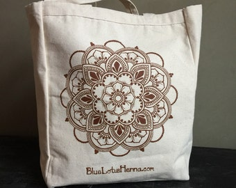 Mehndi Mandala Canvas Tote by Blue Lotus Henna