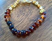 Rainbow baltic amber teething bracelet