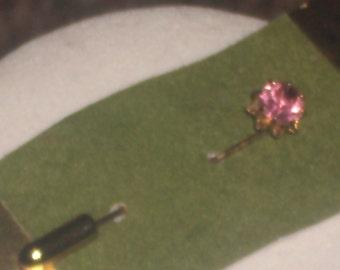 Vintage Rose Zircon October Birthstone Stickpin