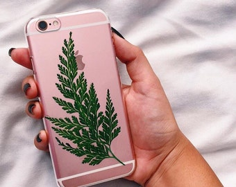 Fern Pressed Flower Iphone 5 / 5s / 6s / 6s plus / 7 Case Clear Plant Flowers ©MoonGoddessMarket
