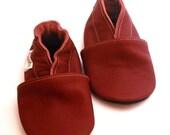 soft sole baby shoes infant kids children maroon 18-24m ebooba OT-11-M-M-4