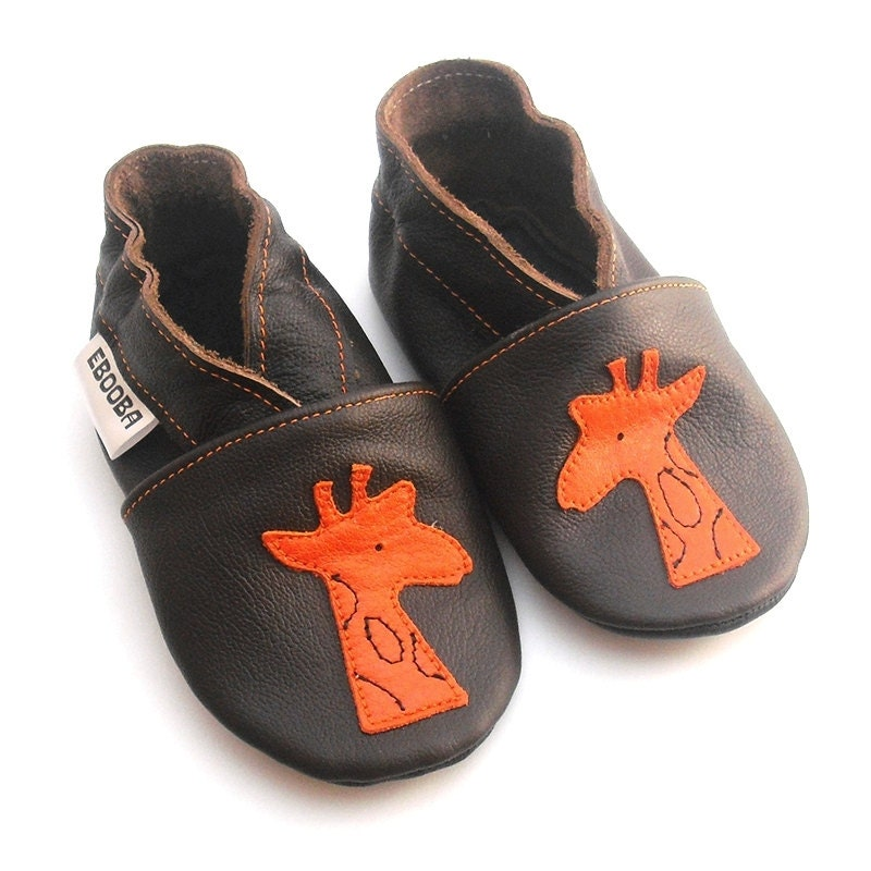 soft sole baby shoes leather infant boy gift brown