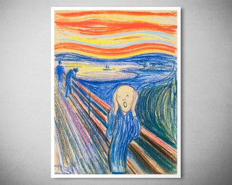 The Scream by Edvard Munch, 1895 - Poster Paper, Sticker or Canvas Print