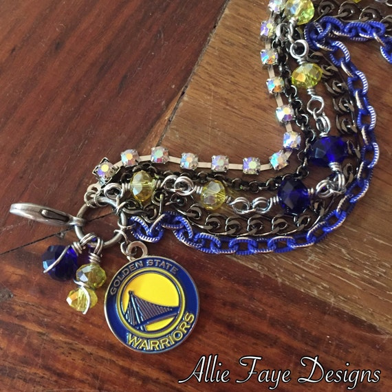 Warriors Come Out And Play Logo: Golden State Warriors NBA Basketball Multichain Rhinestone