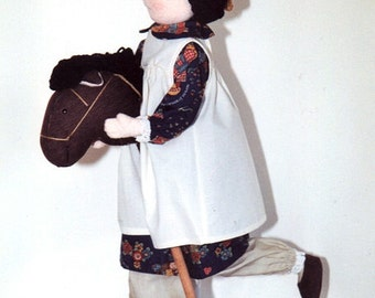 Soft Doll Annabel and Cloth Horse Tutorial PDF Poseable Doll