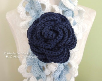 Crochet Large Rose - PATTERN ONLY