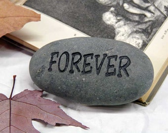 Forever Small Engraved Stone