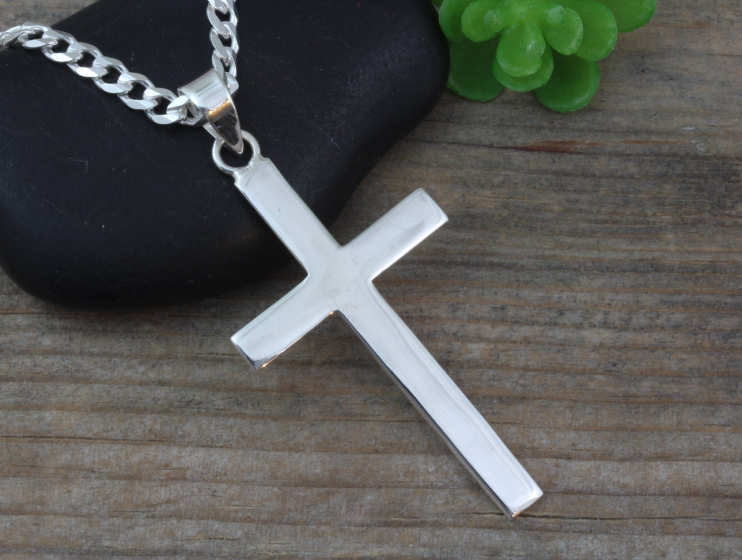 silver mens cross sterling silver large cross necklace mens. Black Bedroom Furniture Sets. Home Design Ideas