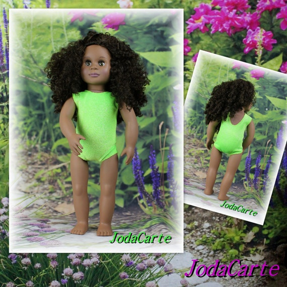 Lime Green Sparkly Leotard/Swim Suit for American Girl Doll