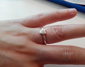 Sterling Silver Handmade Heart Ring