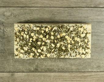 Artisan Bulk Soap Loaf with Spearmint & Eucalyptus Essential Oils, Oatmeal, Vegan
