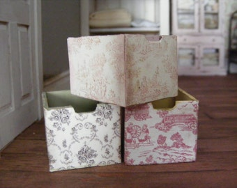 shabby chic storage boxes x3
