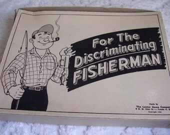Vintage FISHERMAN'S Novelty Box/1956