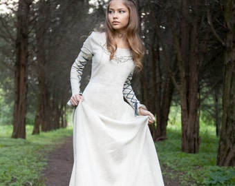 "DISCOUNTED PRICE! Medieval Linen Dress ""Fairy Tale"""