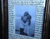 "song lyrics frame photo mat; ""All of Me"" by John Legend; wedding song lyrics; wedding vows; wedding anniversary gift"