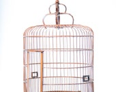 Antique Bamboo Bird Cage Late 1800s Turn of the Century Decor Eastern Imperial Style