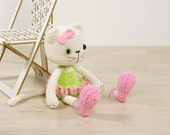 Ballerina cat - Crocheted amigurumi cat