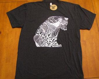 Men's T-Shirt, Guys Shirts, Animal Lover Tees, Black T-Shirt, Gray T-Shirt, Short Sleeve T-Shirt, Art Tees, Hipster T-Shirts, Men's Clothing