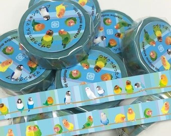 Creative Motion Lovebird Japanese Washi Tape Masking Tape Paper Tape  Buy other items together for BETTER price.