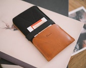 "Samsung Galaxy Note 4 Case, Galaxy Note 4 Wallet, ""Kangaroo"", leather, wool felt"