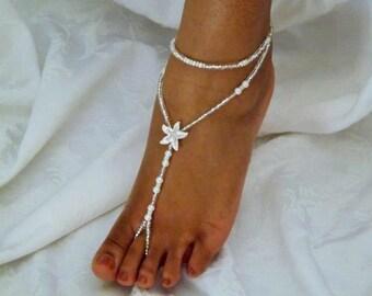 Swarovski Women shoe Starfish Foot Jewelry Wedding Barefoot Sandal Bridesmaid Gift Starfish Jewelry Beach Wedding Pearl Accessories Sandle