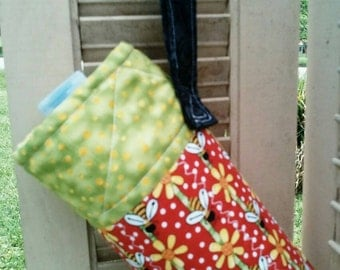 Bumblebee Water Bottle Carrier with Wristlet Strap