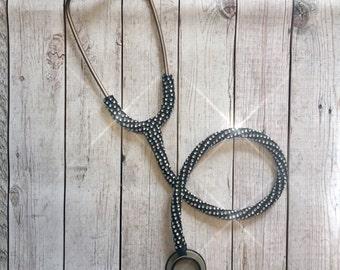 Bling prestige stethoscope- bling littmann stethoscope- sparkly stethoscope- crystal stethoscope- med student gift- nurse gift- doctor gift-