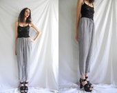 Vintage 90's minimal black and white gingham check high waisted tapered trousers/pants.