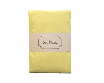 CLEARANCE Solid Citrus Crib Fitted Sheet -  Citrus Yellow/Green GOTS Certified Organic Cotton Fitted Sheet for Crib or Toddler Bed