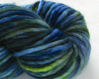 Hand Dyed Bulky Yarn - Frances (Indian Motmot)