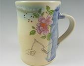 Ceramic Clay Pottery Coffee Mug Vintage Nostalgia Mystical Magic Kim Losse trick cards