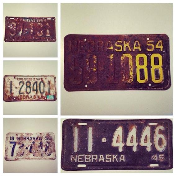 Find vintage license plates