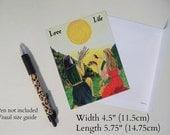 Beautiful Magnetic Postcard 'Love Life'