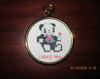 Panda Love Ornament