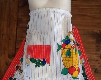 Tutti frutti vintage apron
